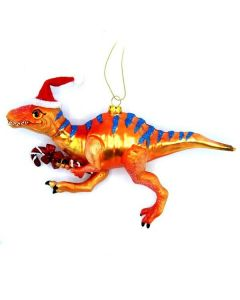 Large Allosaurus Santa Ornament